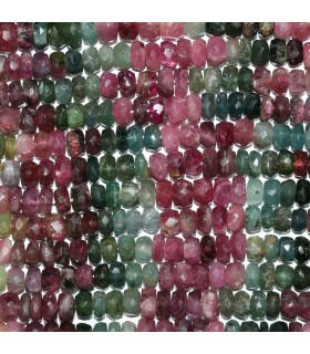 Turmaline Faceted Rondelle Beads 6x3mm.-Strand 34cm.-Item.11025