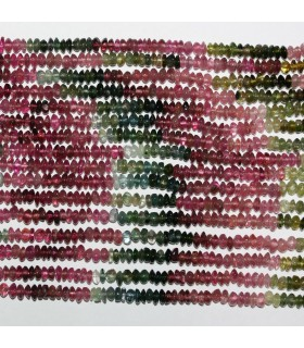 Turmaline Smooth Rondelle Beads 3.5x1.5mm.-Strand 33cm.-Item.11026