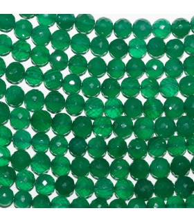 Green Onyx Faceted Round Beads 7-8mm -Strand 26cm- Item.11032