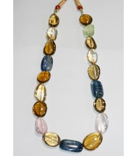 Multi Stone Smooth Nugget Necklace 21x15 mm.Approx.-Item.11042