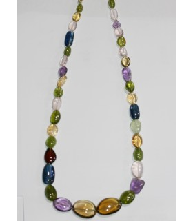 Multi Stone Graduated Smooth Nugget Necklace 9x6-19x15mm.Approx.-Item.11043