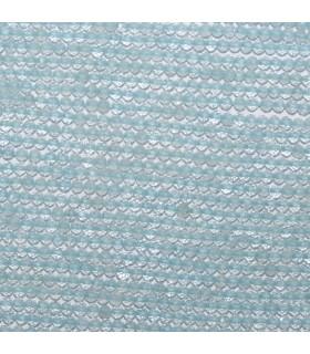 Aquamarine Faceted Round Beads 2mm.-Strand 33cm. -Item.11045