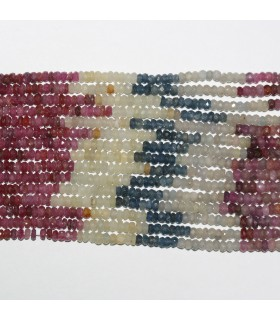 Multi Sapphire Faceted Rondelle 3x2mm.-Strand 36cm.-Item.11062