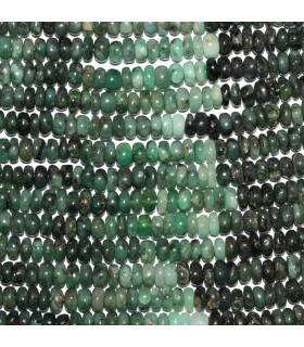Emerald Smooth Rondelle Beads 6x3mm.-Strand 33cm.-Item.11065