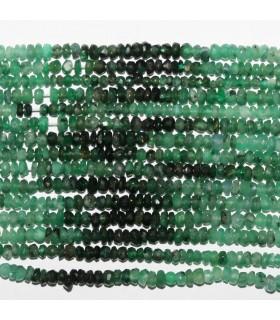 Esmerald Faceted Rondelle Beads 2.5x1.5mm.-Strand 39cm.-Item.11067
