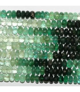 Esmerald Faceted Rondelle Beads 5x3mm.-Strand 40cm.-Item.11068