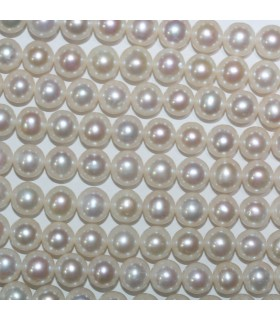 Freshwater Round Pearl 7-8mm.-Strand 40cm.-Item.11079