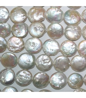 FreshWater Coin Pearl 14mm.-Strand 40cm.-Item.11100