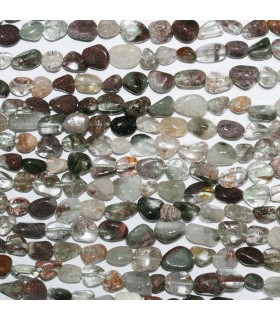 Lodolite Smooth Nugget Beads 6-7mm.Approx.-Strand 39cm.-Item.11105