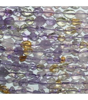 Ametrine Smooth Nugget Beads 6-8mm.Approx.-Strand 39cm.-Item.11108