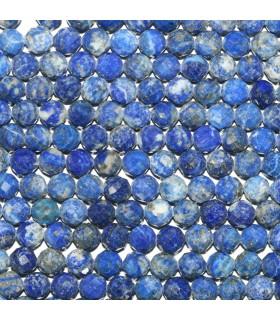 Lapis Lazuli Faceted Round Beads 6mm.-Strand 39cm.-Item.11113