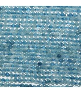 Aquamarine Faceted Round Beads 2.5mm.-Strand 38cm. -Item.11121