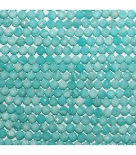 Amazonite Faceted Round Beads 4.5-5mm.-Strand 39cm.-Item.11123