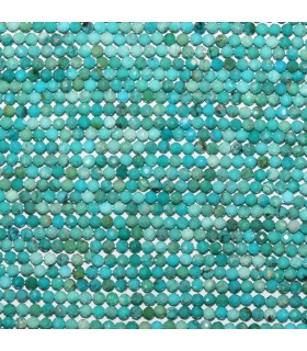 Natural Turquoise Faceted Round Beads 2mm.-Strand 40cm.-Item.11126