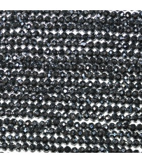 Terahertz Hematite Faceted Round Beads 2mm. Strand 39cm.-Item.11130