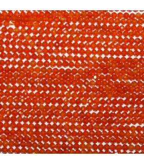Orange Cubic Zirconia Faceted Round 2mm.Strand 39cm.-Item.11131