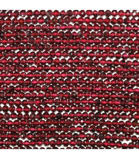 Garnet Faceted Round Beads 3mm.-Strand 37cm.-Item.11139