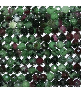 Ruby Zoisite Faceted Round Beads 5mm. Strand 41cm.- Item: 11154