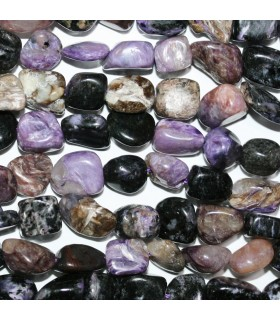 Charoite Smooth Nugget 7-8mm.-Strand 39cm.-Item.11160
