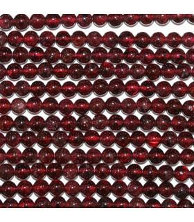 Garnet Round Beads 4mm.-Strand 39cm.-Item.11171