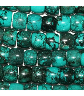 Natural Turquoise Smooth Rondelle 15x13mm.-Strand 44cm.-Item.11185