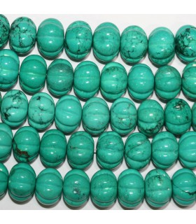 Turquoise pumpkin Rondelle Beads 15x11mm.-Strand 42cm.-Item.11186