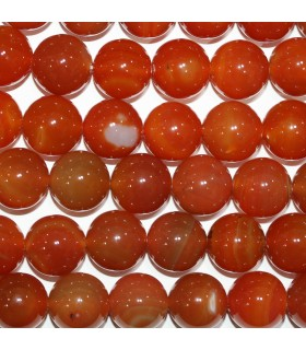 Carnelian Round Beads 20mm.-Strand 39cm.-Item.11187