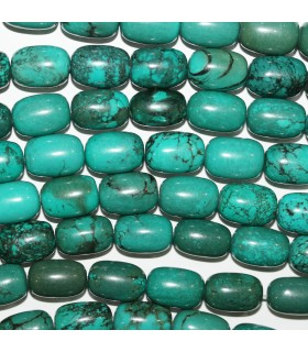 Turquoise Smooth Barrel Beads 10x14mm. Strand 40 cm.- Item: 11182
