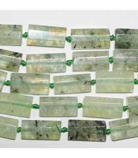 Prehnite Faceted Rectangular Beads 28x13mm.-Strand 40cm- Item.11194