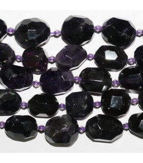 Amethyst Faceted Nugget Beads 18x15mm.Approx.-Strand 39mm. Item.11205
