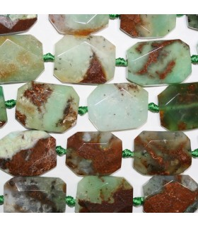 Chrysoprase Faceted Octagonal 30x23mm.Approx.-Strand 43cm.-Item.11191