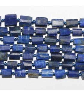 Lapis Lazuli Faceted Tube Beads 8x6mm.Approx.-Strand 40cm.-Item.11212