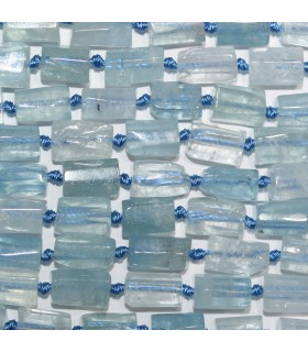 Aquamarine Faceted Tube Beads 11x7mm.Approx.-Strand 42cm- Item.11214