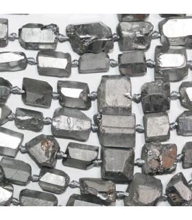 Silver Quartz Graduated Unpolish Nugget 11x8-15x10mm.Approx.-Strand 49cm.-Item.11227
