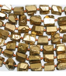 Cuarzo Oro Nugget Sin Pulir En Degrade 11x8-15x10mm.Aprox.-Hilo 49cm.-Ref.11228