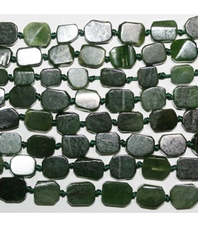 Canadian Jade Smooth Rectangular 12x9mm.Approx.-Strand 40cm.-Item.11165