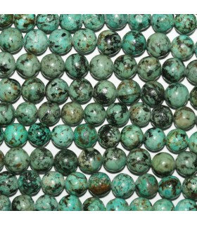 African Turquoise Round Beads 8mm.-Strand 38cm.-Item.11238