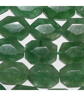 Aventurine Faceted Oval 25x17mm.Approx.-Strand 38cm.-Item.11244