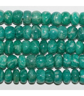 Russian Amazonite Smooth Rondelle 8x5mm.-Strand 40cm.-Item.11245