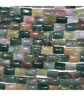 Indian Agate Smooth Rectangular 12x8mm.-Strand 40cm.-Item.11251