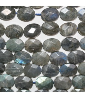 Labradorite Faceted Oval Beads 16x12mm.-Strand 38cm.-Item.11253