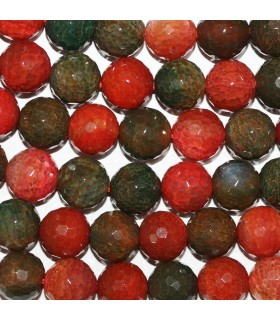 Multicolor Agate Faceted Round Beads 16mm. Strand 38cm.- Item: 11274