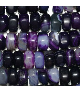Purple Agate Faceted Rondelle Beads 15x9mm.-Strand 38cm.-Item.11305