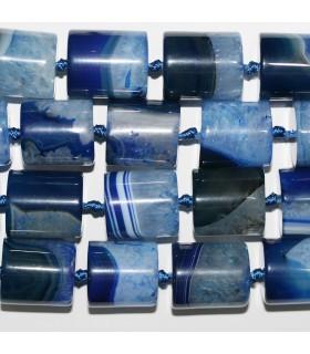 Blue Agate Smooth Barrel Beads 21x19mm.-Strand 40cm.-Item.11369