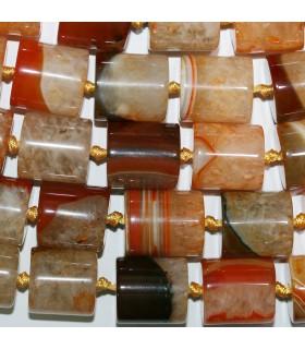 Orange Agate Smooth Barrel Beads 21x19mm.-Strand 40cm.-Item.11371