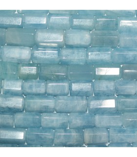 Aquamarine Faceted Tube Beads 14x9mm.Approx.-Strand 39cm- Item.11404