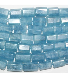 Aquamarine Graduated Faceted Tube Beads 9x6mm-19x12mm.Approx.-Strand 40cm.-Item.11405