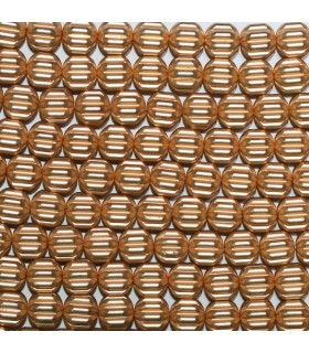 Gold Hematite Carved Rondelle Beads 8x5mm.-Strand 40cm.-Item.11430