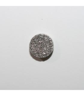 Druzzy Agate Round Cabochon 10 mm (8 pcs).- Ref: 1207CB