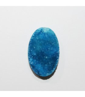 Druzy Agate Oval Cabochon Klein Blue 28x18 mm. (4 pcs.).- Item: 1214CB